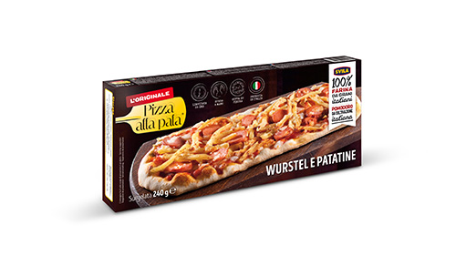 pizza alla pala svila wurstel e patatine