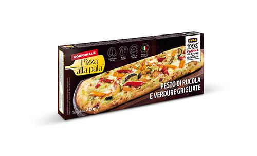 pizza alla pala al pesto di verdure
